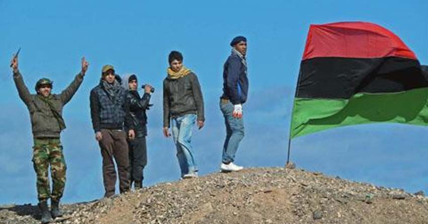 Libysche Rebellen in Brega