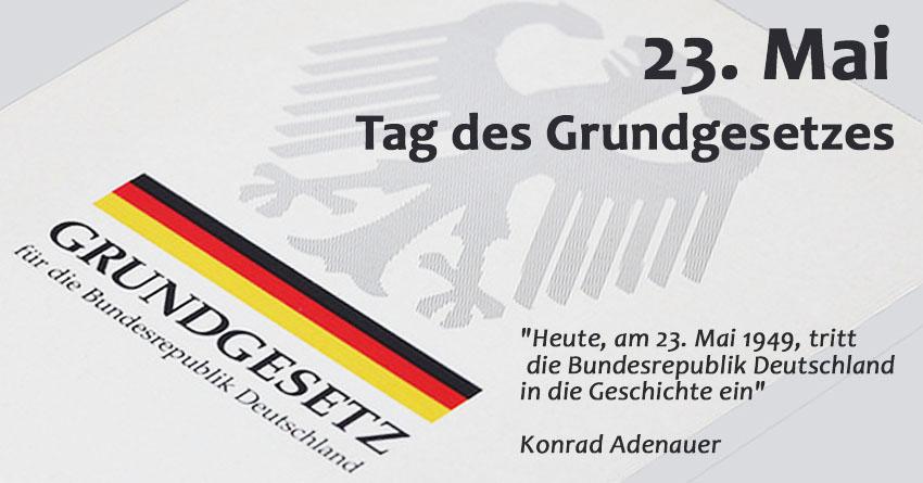 Grundgesetz Deutschland - 23. Mai 1949 - 2018 Tag des Grundgesetzes ...