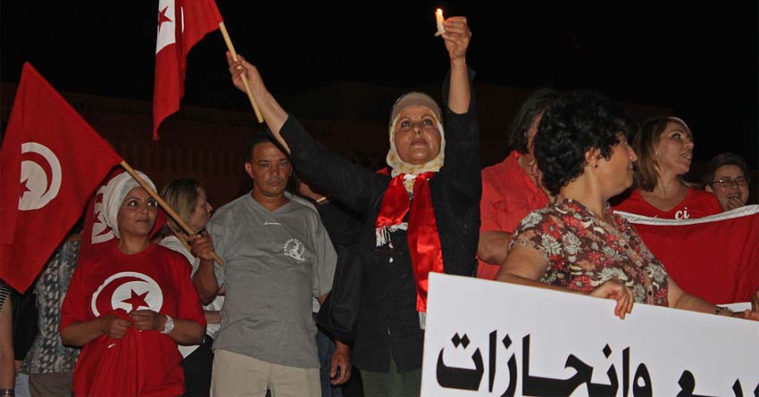 Candlelight Protest in Tunis